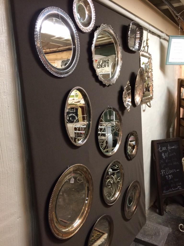 silver platter display