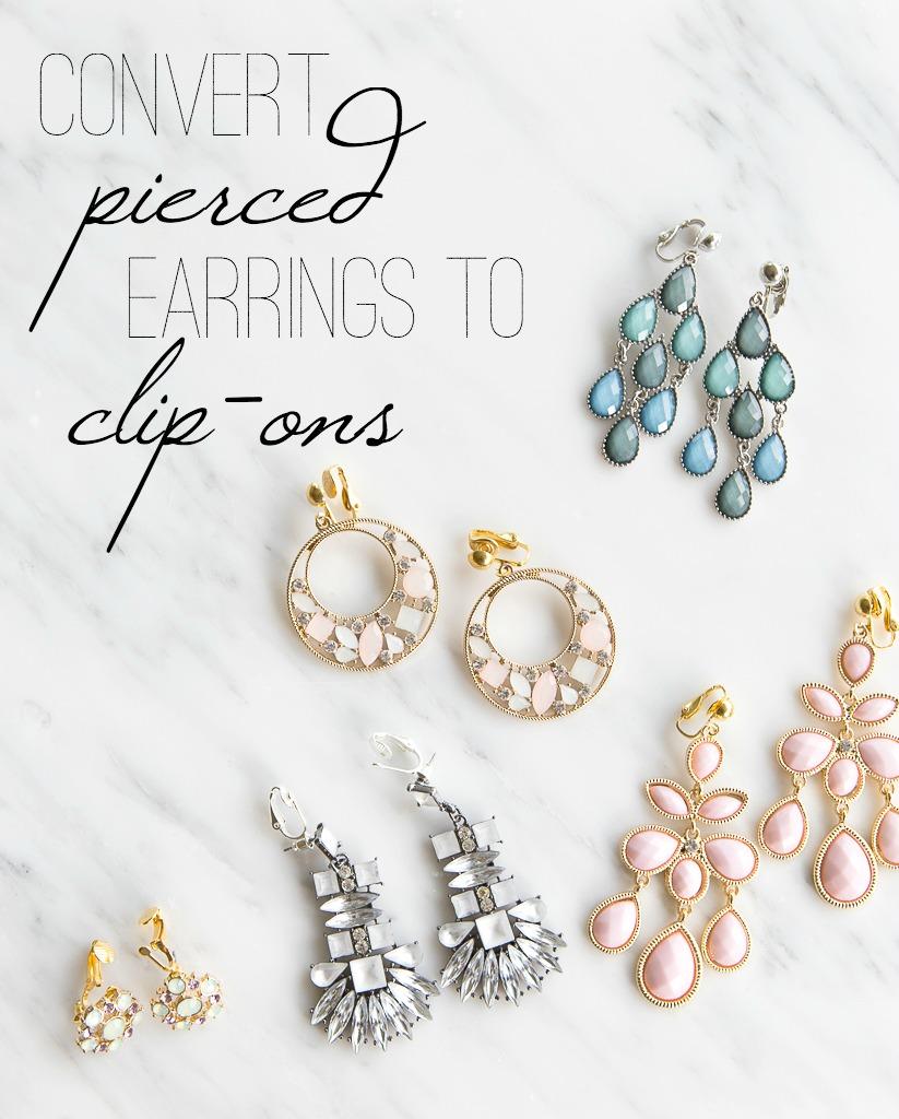 make clip on earrings