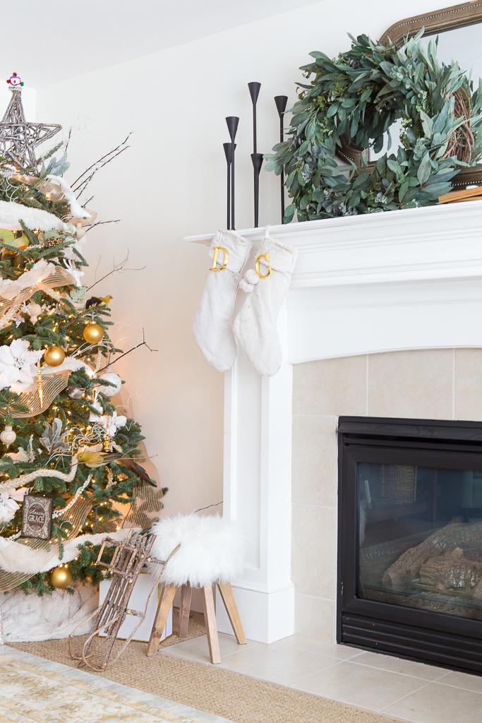 fur Christmas decor