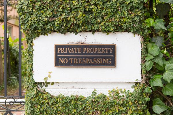 Charleston house sign