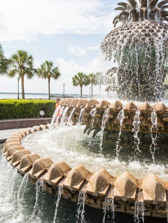 Pineapple fountain in Charleston