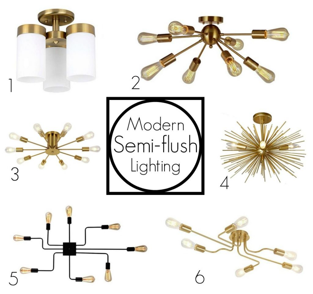 semi-flush lighting