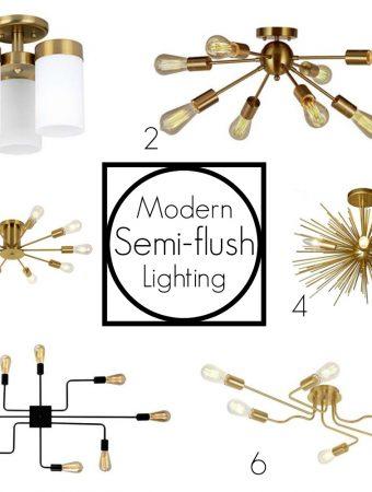 semi-flush lighting