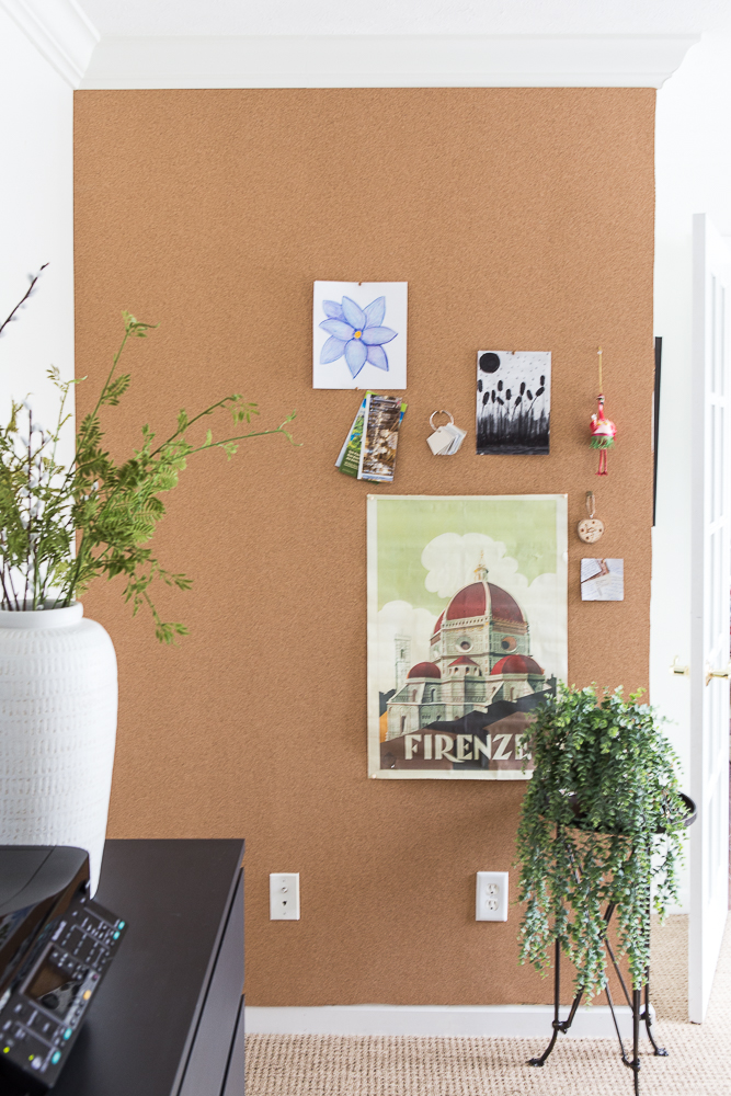 how to install cork board
