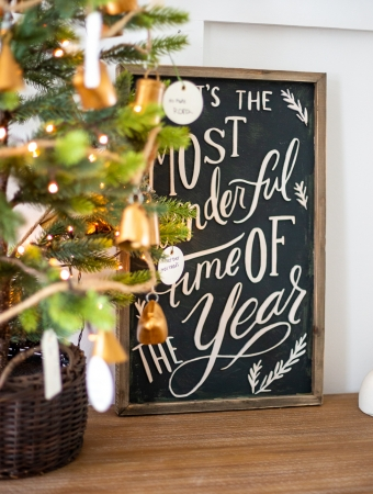 Green gold black Christmas decor